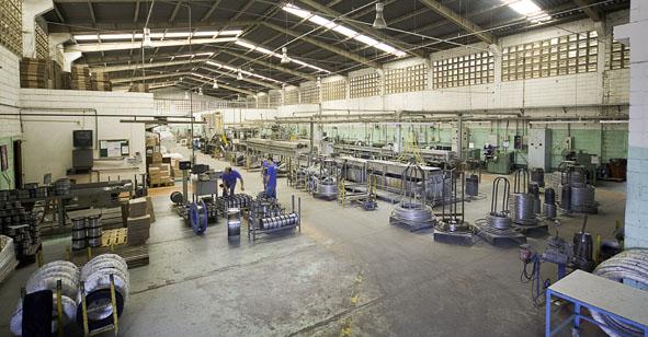 Fotos das instalações da fábrica